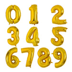 Gold Decorative Number Balloon For Party - ValasMall