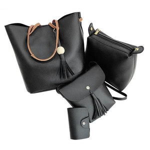 PU Leather Fashion Handbag Set - ValasMall