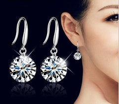 Stylist Silver Shiny Earrings - ValasMall
