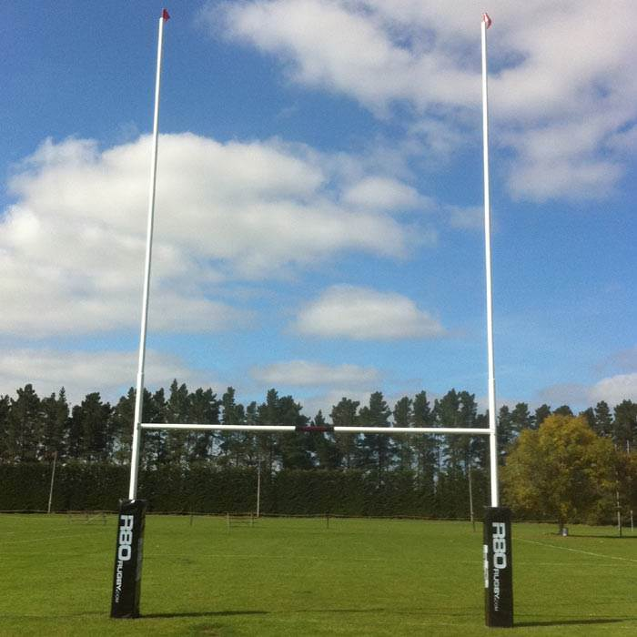 12.9m Senior Powder Coated Rugby Posts
