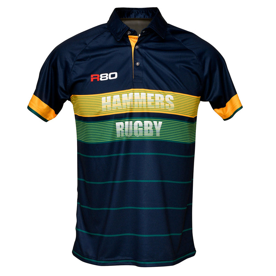 Mid Canterbury Hammers Supporters Polo-R80RugbyWebsite-Speed Power Stability Systems Ltd (R80 Rugby)
