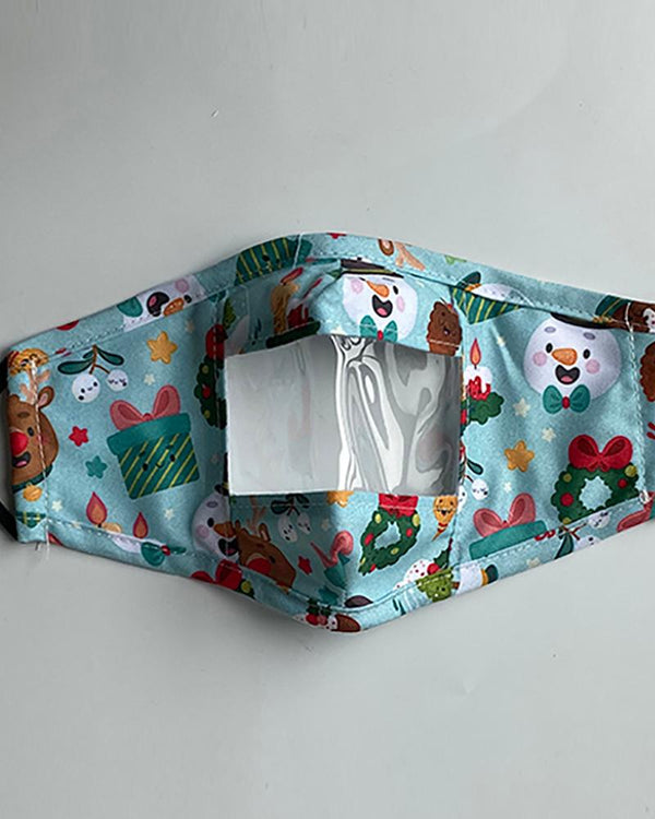 Christmas Mixed Print Visible Face Mask