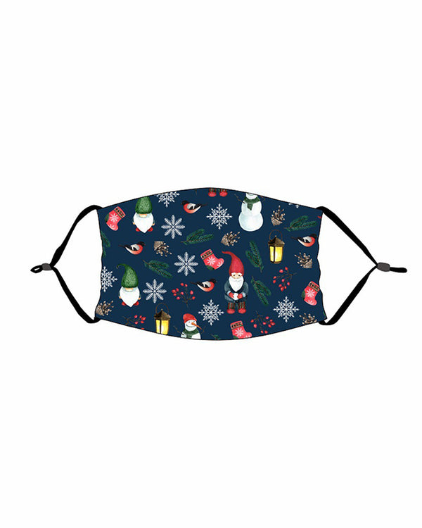 Christmas Print PM 2.5 Adjustable Face Mask For Adults