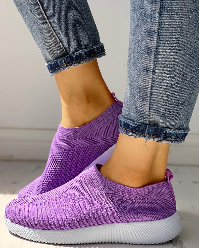 Net Surface Breathable Knitting Shoes