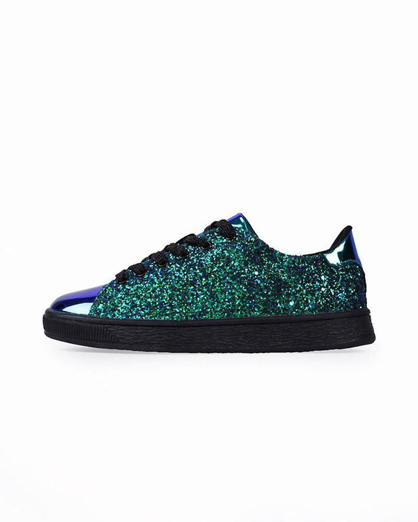 Deluxe Sequined Lace-Up Sneaker