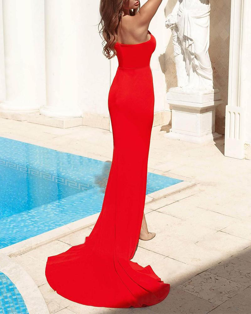 One Shoulder Cutout Maxi Dress