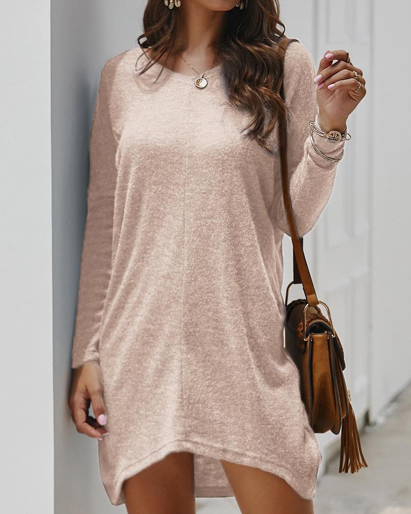 Solid Oversized Knit Tunic Top