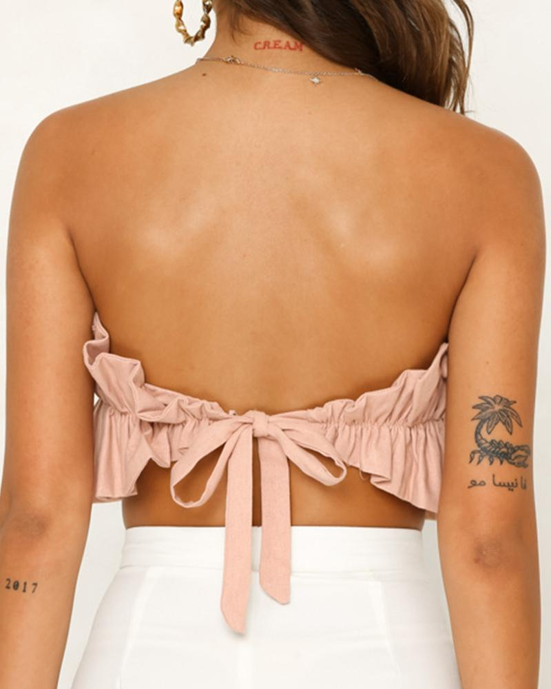 Back Lace-Up Crop Top