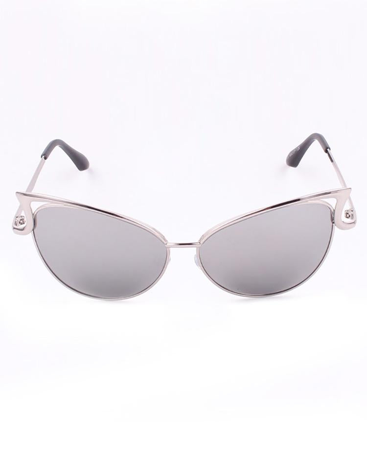 Fashion Reflactive Cat Eye Lens Sunglasses