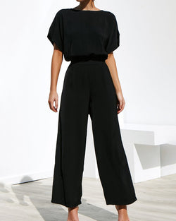 Two-piece Short Sleeved Shirt Waistband Trousers Suit