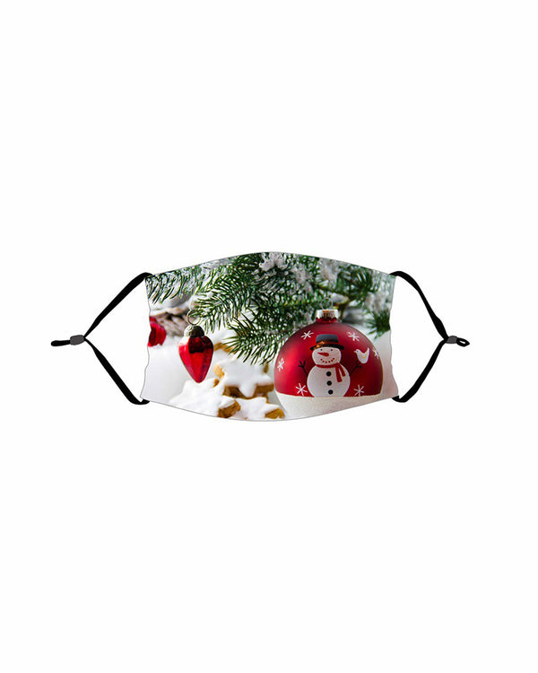 Christmas PM 2.5 Earloop Face Mask With Fliter For Kids