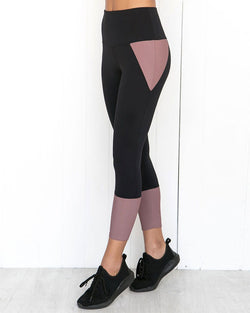 Contrast Color Splicing Yoga Leggings
