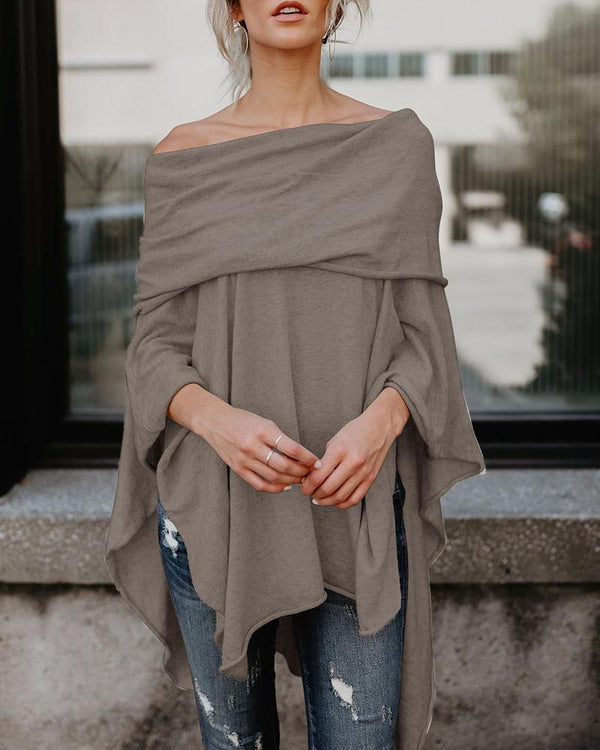 Solid Off Shoulder Tunic Top