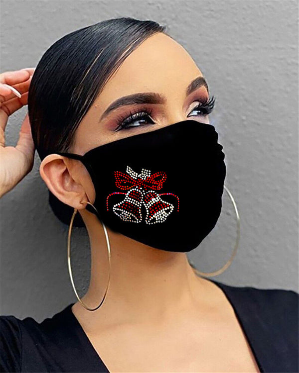 Christmas Mixed Pattern Studded PM2.5 Filter Face Mask