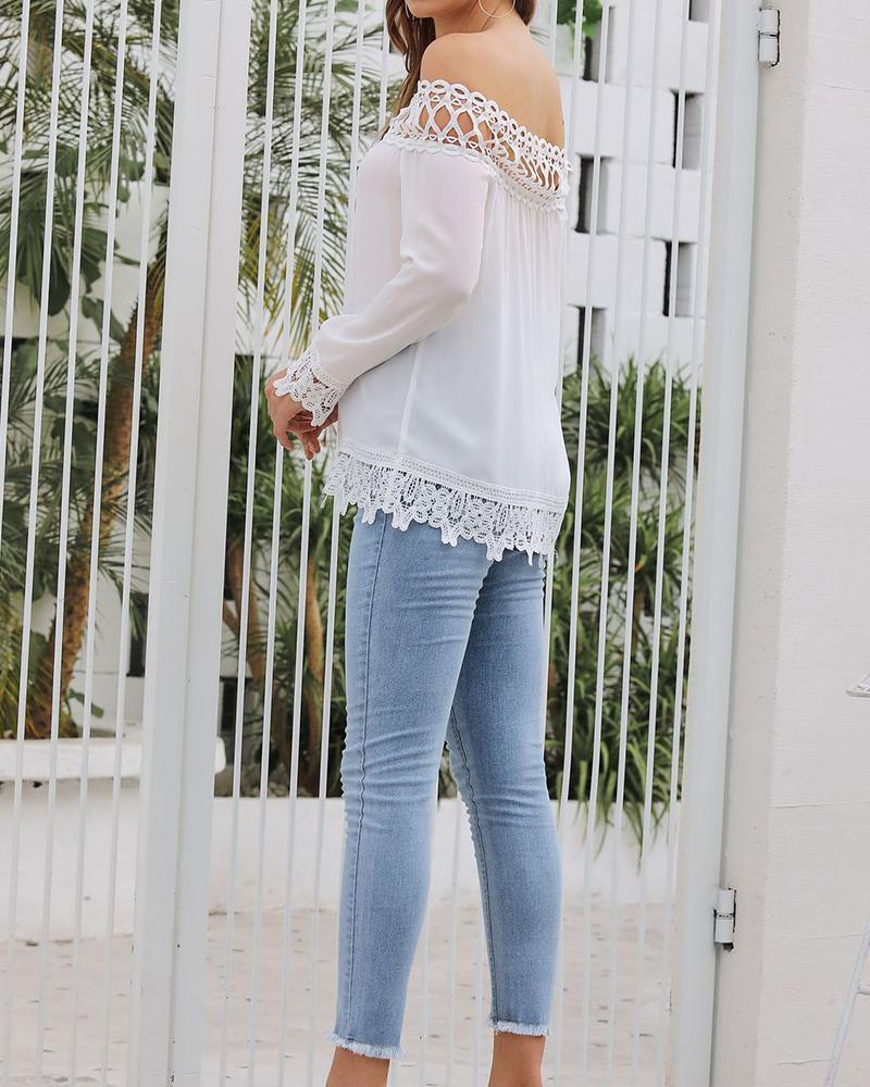 Elegant Lace Off Shoulder Tops