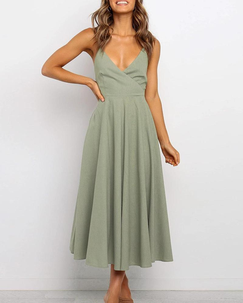 Criiss Cross Back Midi Dress