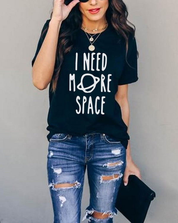 Black Hole Space Print Tee
