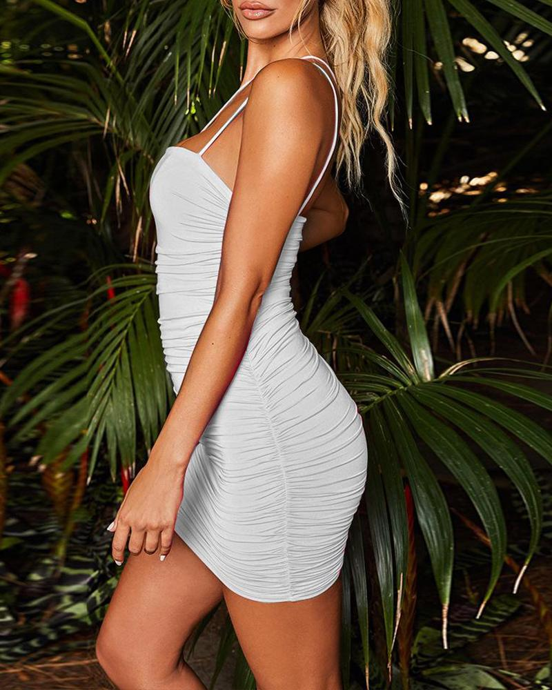 One Shoulder Bodycon Cami Dress