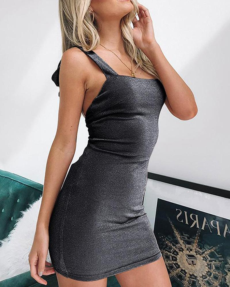 Glitter Bodycon Mini Dress