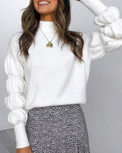 High Neck Virago Sleeve Sweater