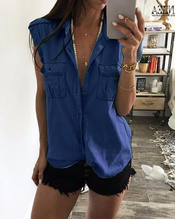 Denim Dual Pocket Buttoned Casual Shirt