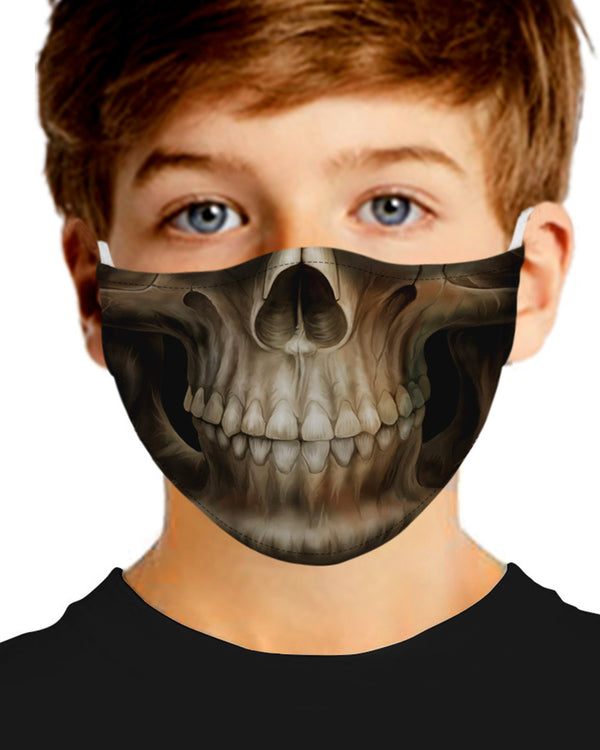 Skull Print Breathable Mouth M .a. s. k Washable And Reusable