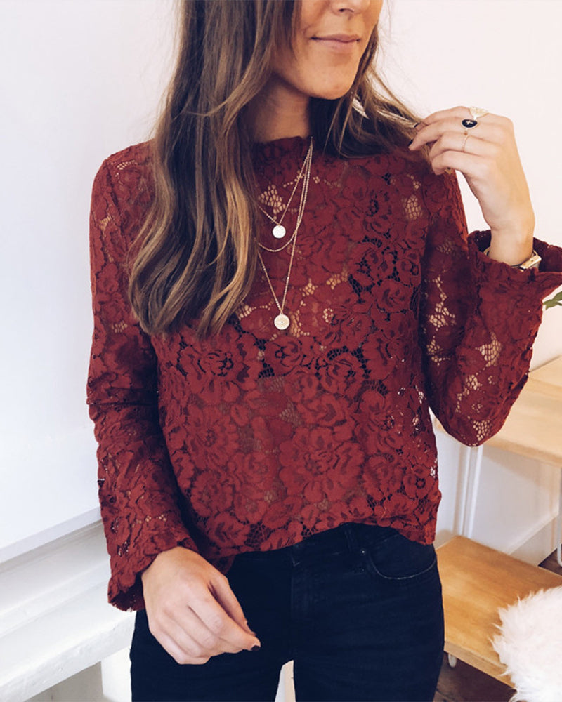 Lace Perspective Casual Blouse