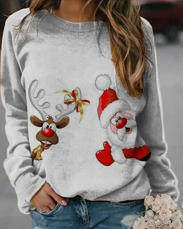 Chriatmas Long Sleeve Loose Sweatshirts