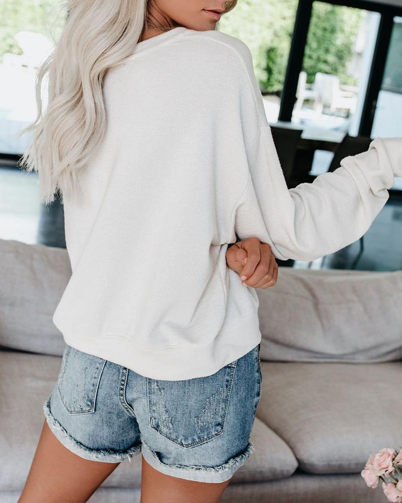 Casual Pullover Tops