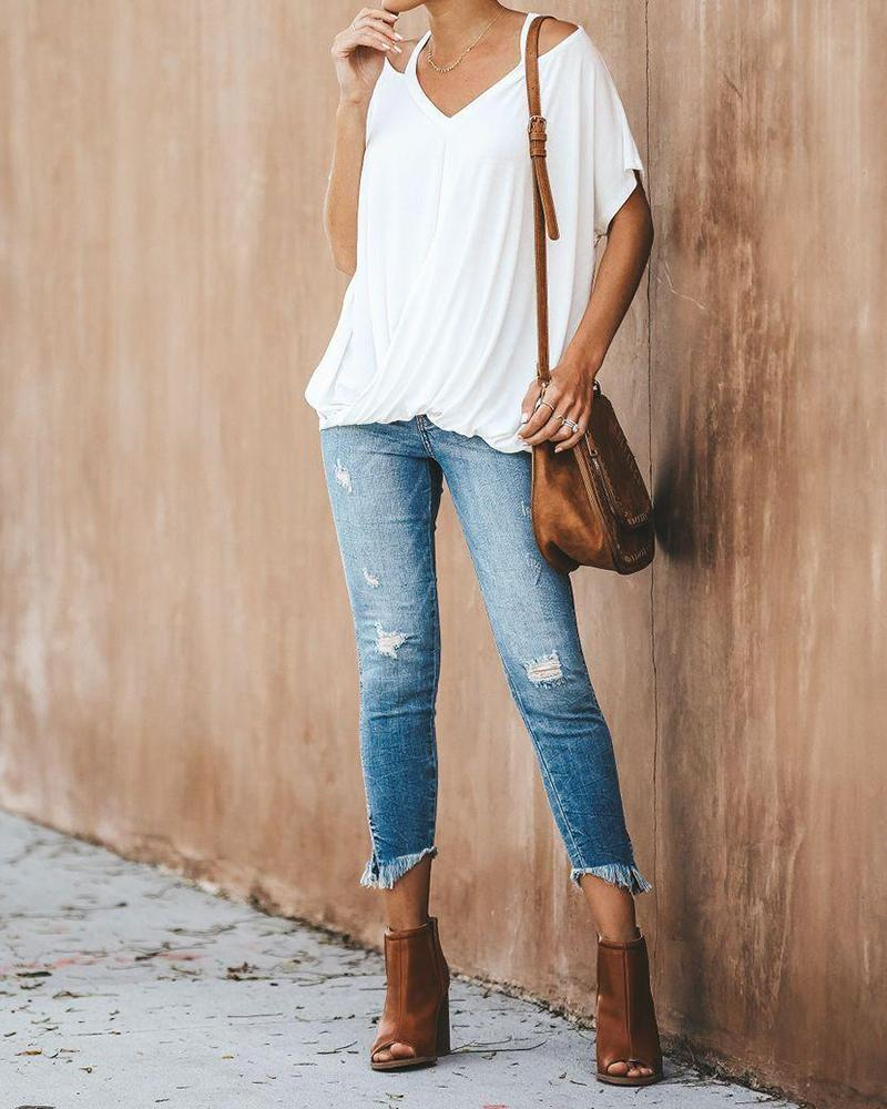 Casual Loose Batwing T Shirt