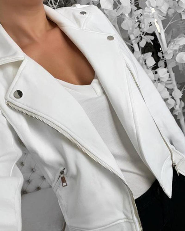 Solid Color Casual Blazer Coat