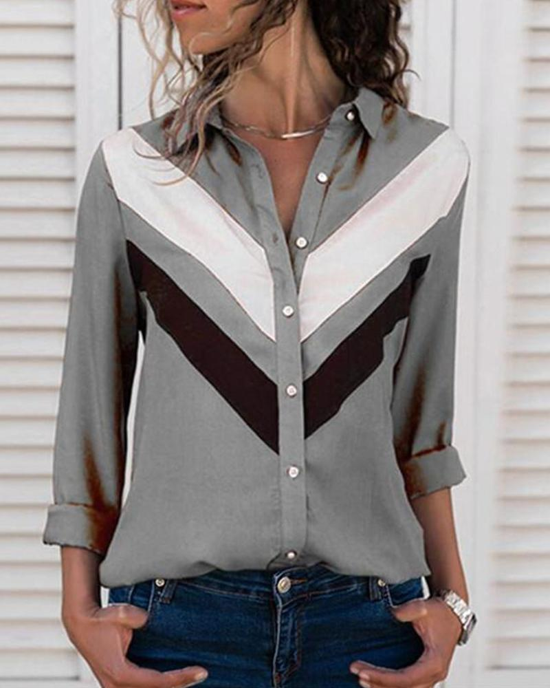 Button-Up Long Sleeve Top