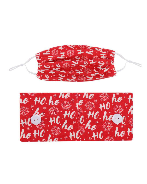 Christmas Headband Elastic Facemask Holder With Mouth Mask