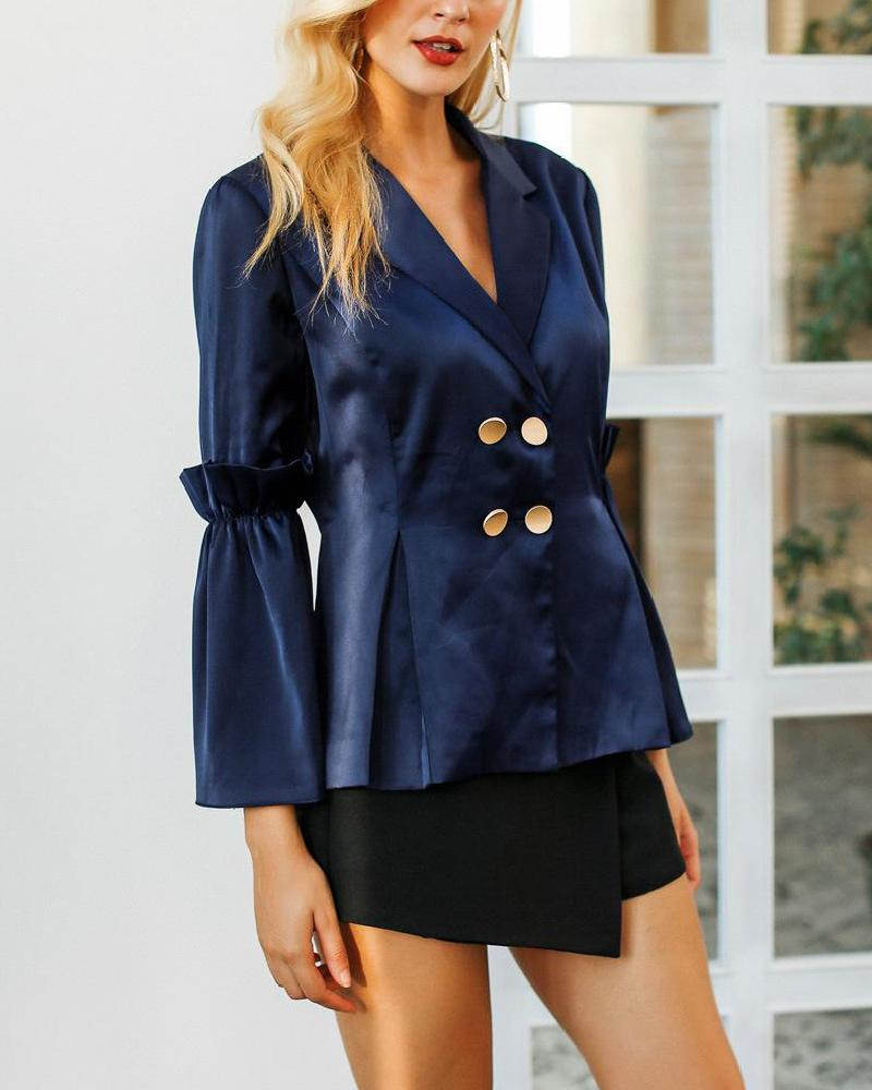 Blue Silk Suit Jacket