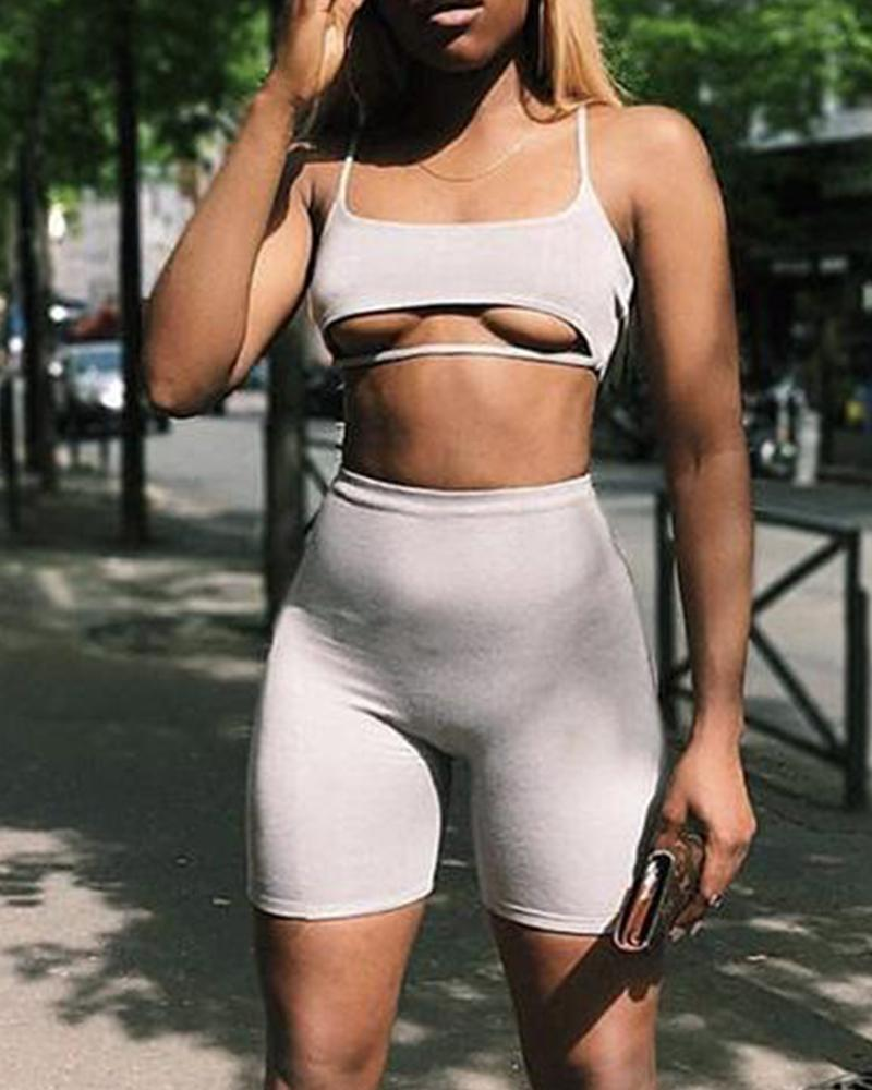 Bralette & Pants Two-Piece Set