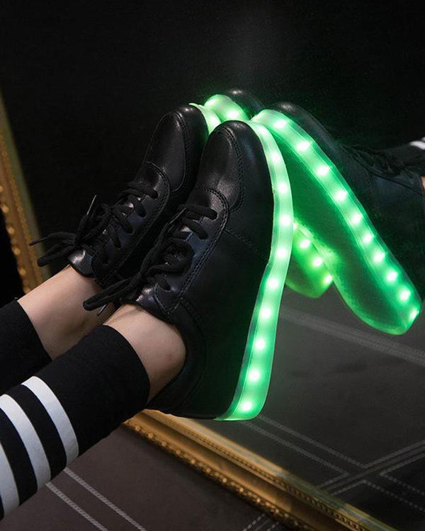 Leatherette LED Light Up Sneaker
