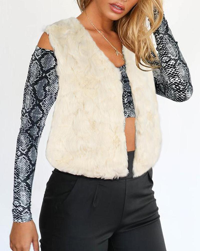 Light Long Sweater Vest