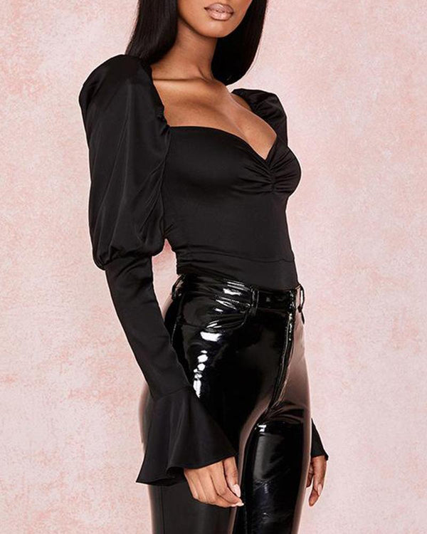Low Cut Slim Fit Bodysuit