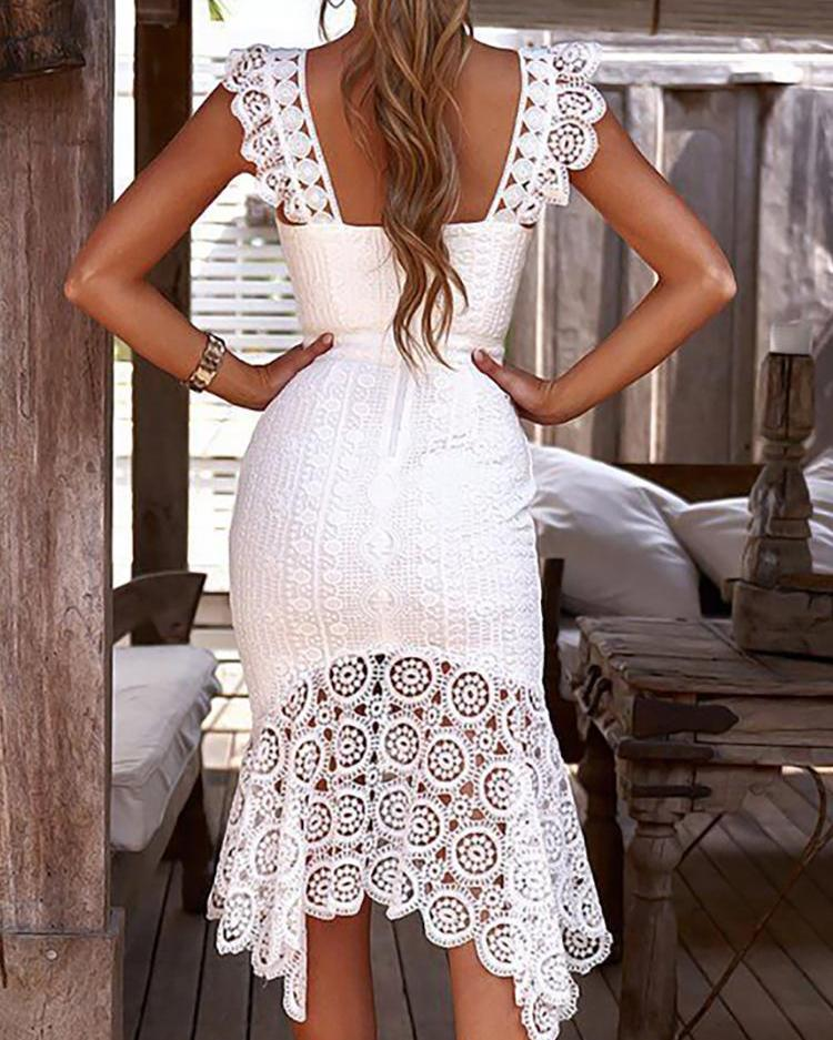 Hollow Out Crochet Lace Dress
