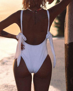 Tie Strap One-Piece Swimsuit
