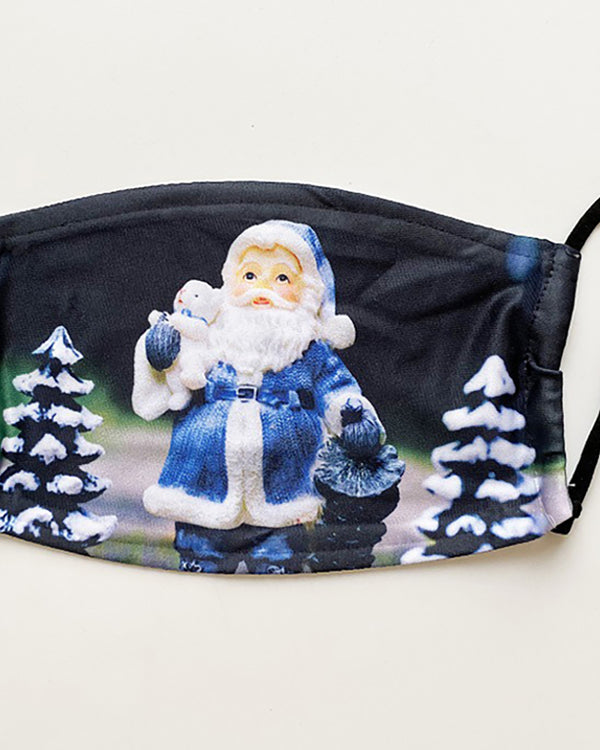 Christmas Santa Reindder Print PM 2.5 Face Mask With Fliter For Adults