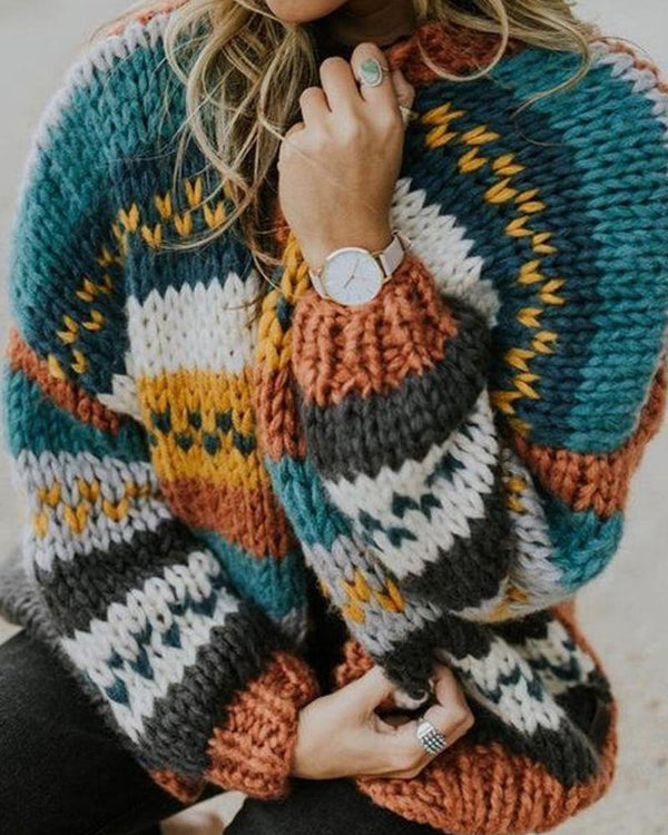 Multicolor Round Neck Sweater