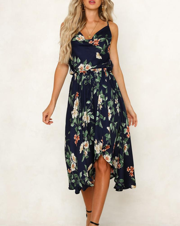 Floral Print Fit & Flare Cami Dress