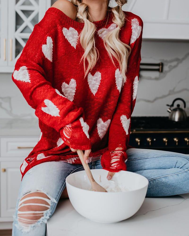 Loose Large Size Hollow Sweater