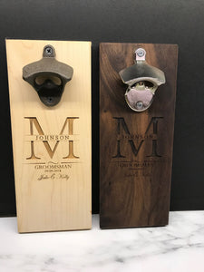 Personalized Groomsman Wall Mount Bottle Opener