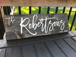 Personalized Last Name Sign 1