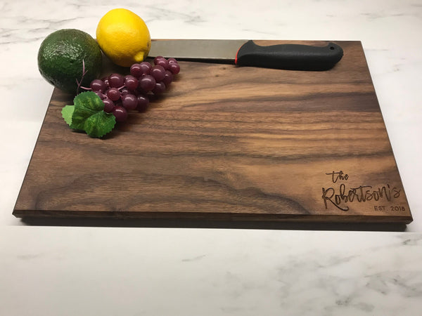 Personalized Custom Cutting Board Laser Engraved Wood Sign Wedding Gift Anniversary Gift Birthday Gift Walnut Wood Maple Wood