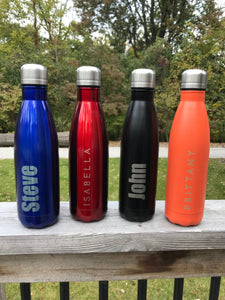 Personalized Metal Water Bottle