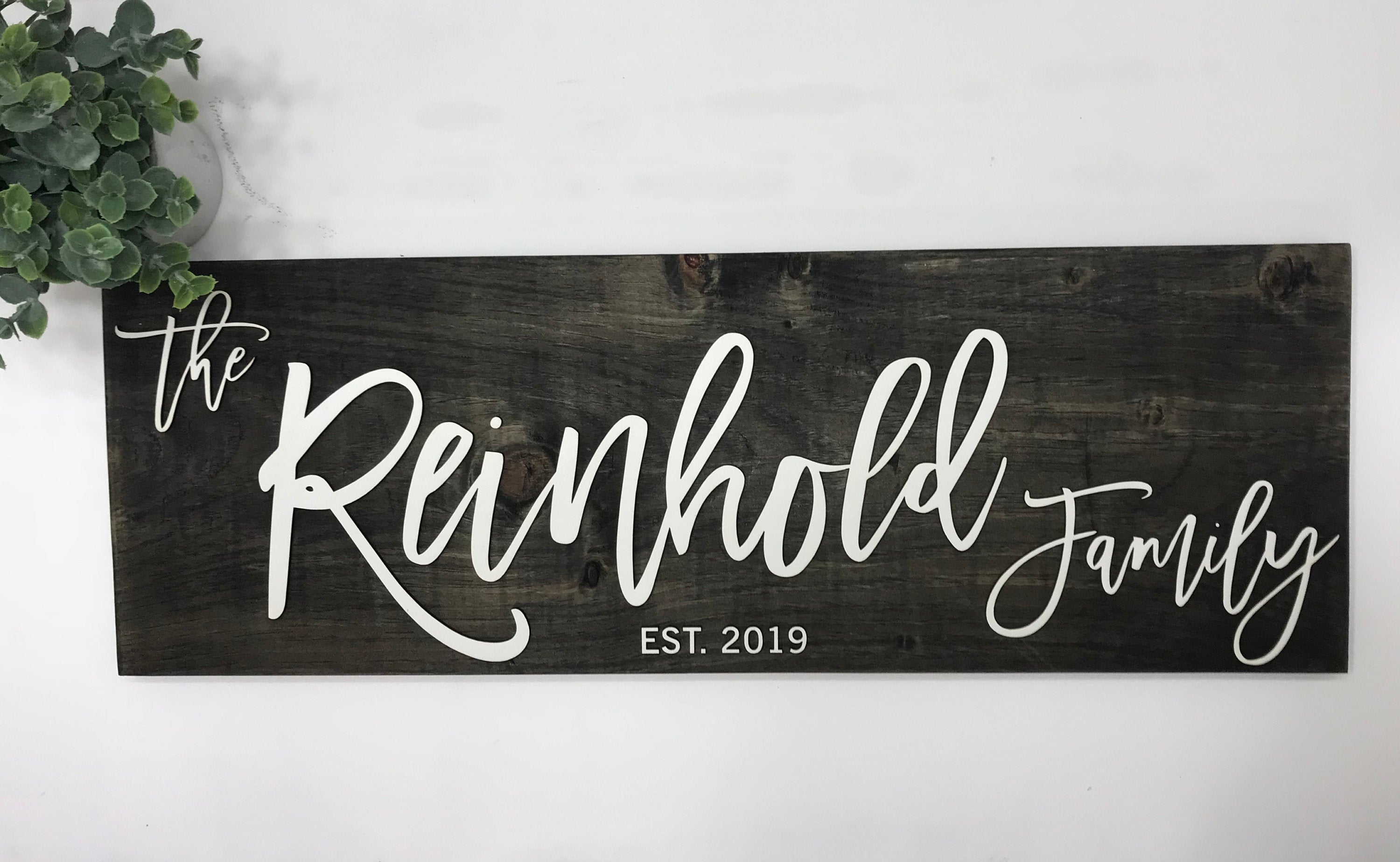 Personalized Last Name Sign 5