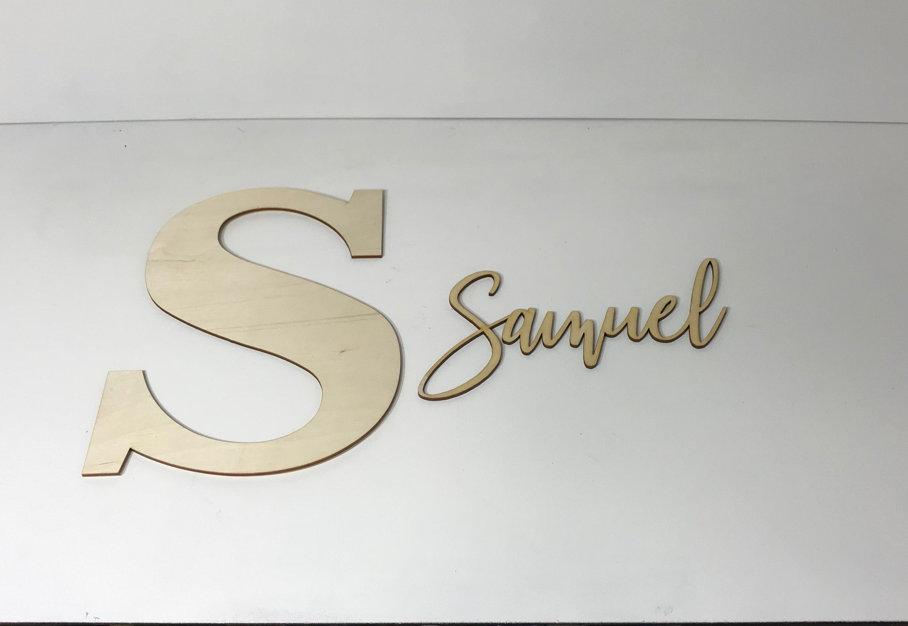 Wood Letter and Name Cutout